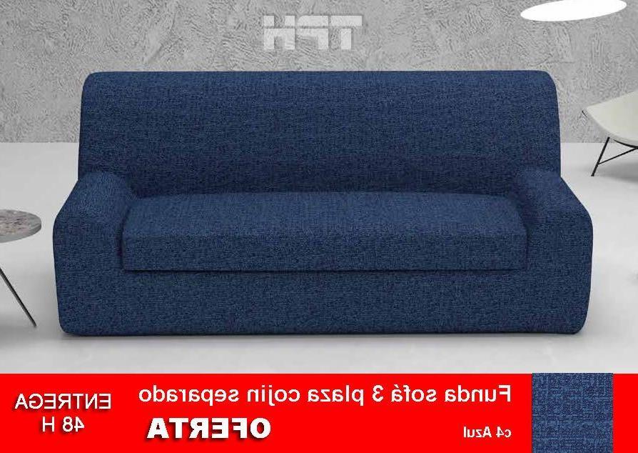 Fundas De sofa Ajustables Ikea Wddj Funda sofà Cojà N Separado 3 Plazas Azul Nature La Mejor forma De
