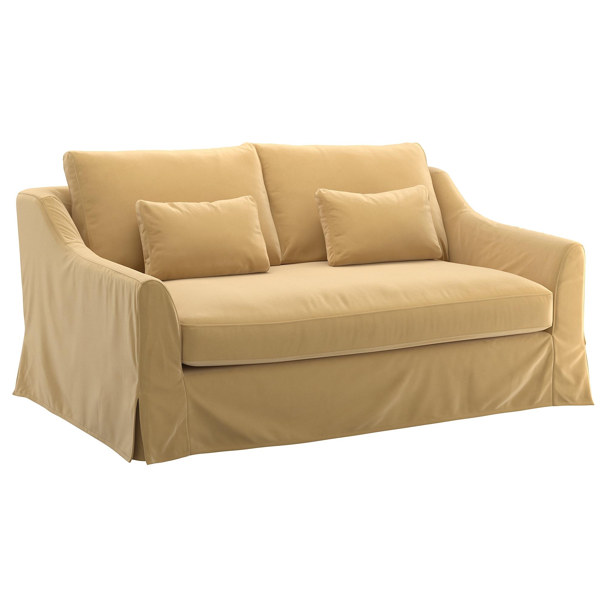 Fundas De sofa Ikea Kvdd Fà Rlà V Funda Para sofà De 2 Plazas Djuparp Beige Dorado Ikea