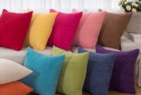 Fundas Para Cojines De sofa Jxdu Enterhome Corduroy solid Cojà N Decorativo Fundas De Almohada Suave