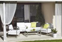 Fundas Para Muebles De Jardin Leroy Merlin Ffdn Set De Aluminio Y Textileno Cerdeà A Blanco Ref Leroy Merlin