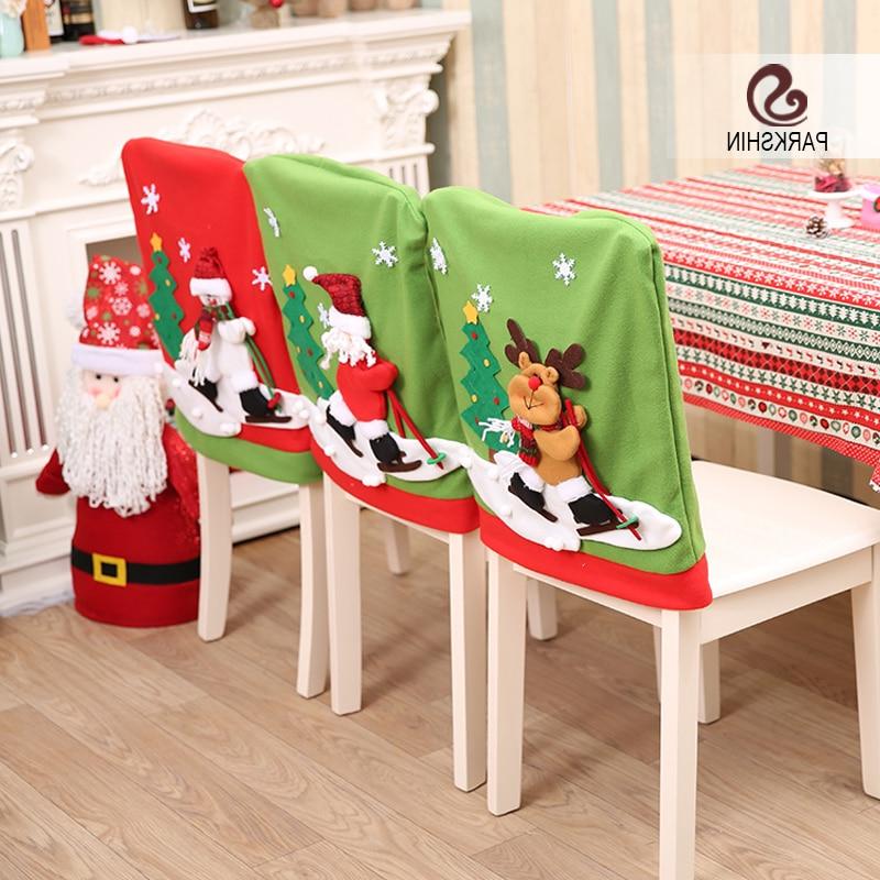 Fundas Para Sillas Comedor 9fdy Parkshin Navidad Fundas Para Sillas S Santa Claus Deer Muà Eco