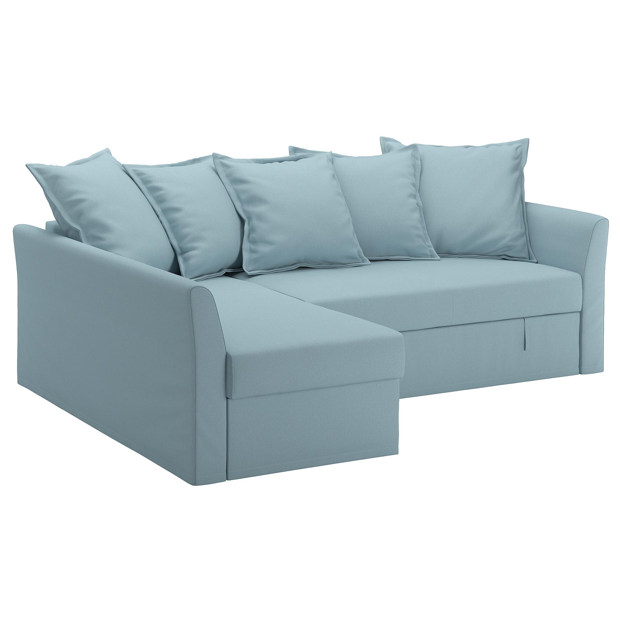 Fundas Para sofa Cama 9ddf Holmsund Funda Para sofà Cama Esquina orrsta Azul Claro Ikea
