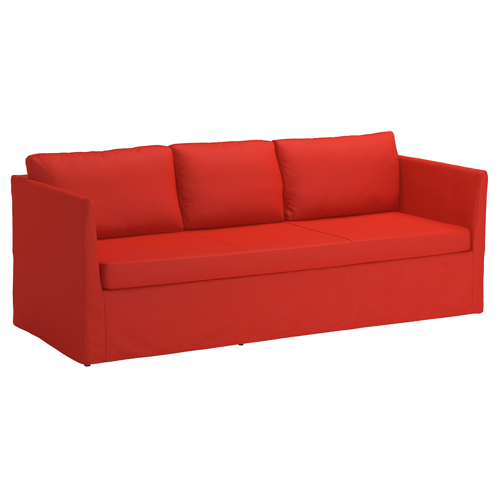 Fundas Para sofas 4pde Brà Thult Funda Para sofà De 3 Plazas Vissle Naranja Rojizo Ikea
