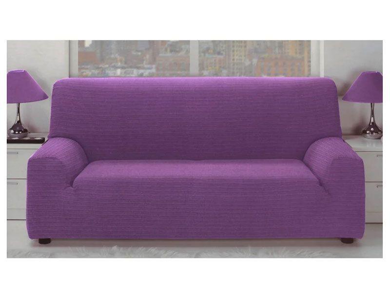 Fundas Para sofas E9dx Fundas Para sofà Elà Stica Jacquard Color Malva Con Tejido Rústico