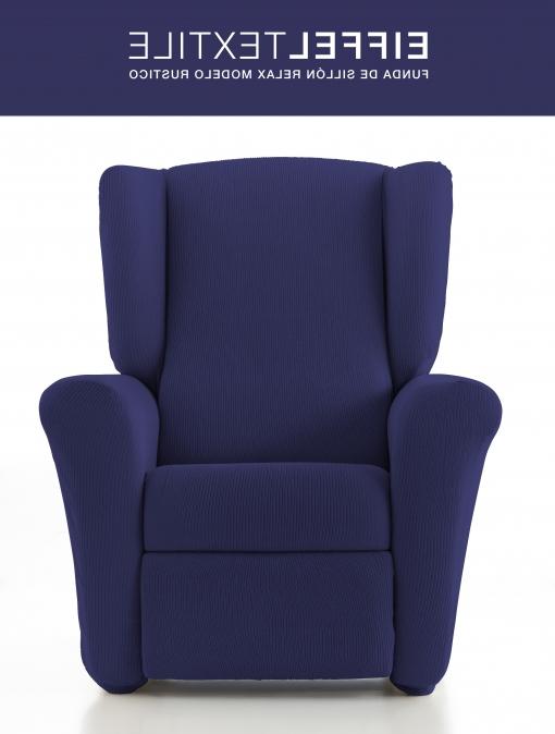 Fundas Sillon orejero Carrefour Dwdk Funda De sofa Rustico Elastica Eiffel Textile Sillon Relax Azul
