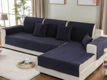 Fundasdesofa Com Thdr Navy Blue Green Waterproof sofa Cover Silica Gel Anti Slip Covers