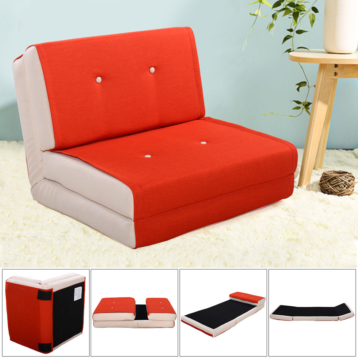 Futon sofa Cama E9dx Giantex Folding sofa Bed Modern Convertible Split Back Linen Futon
