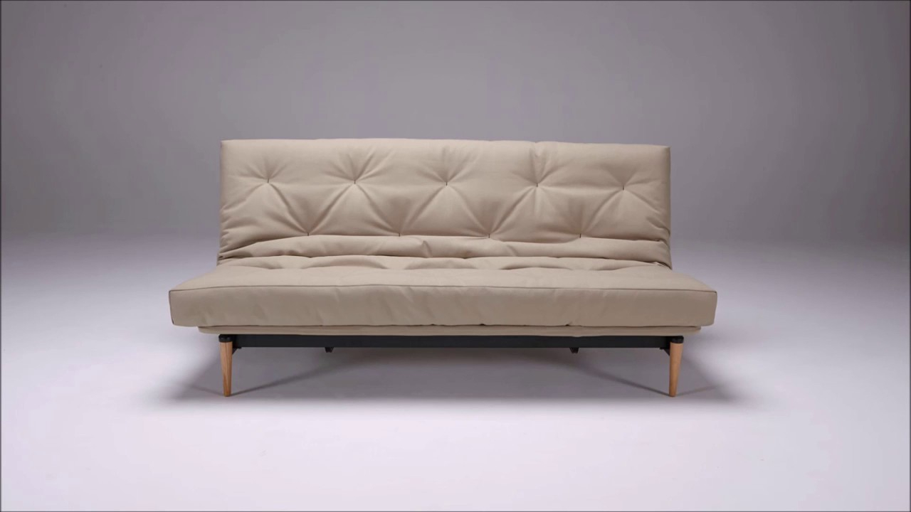Futon sofa Cama Tldn Colpus Futon sofa Bed by Innovation Youtube