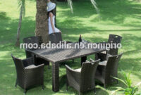 Garden Furniture Spain Thdr 6 Seater Plastic Poly Rattan Hand Woven Outdoor Dining Table and Chair Garden Furniture Spain Garden Furniture Spain Poly Rattan Garden