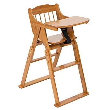 High Chair Dwdk Elenker Wood Baby High Chair with Tray 3 Gear