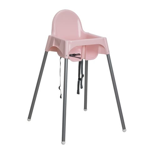 High Chair Fmdf Antilop Highchair with Safety Belt Pink Silver Colour Ikea