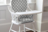 High Chair Jxdu Gray and White Dots and Stripes High Chair Pad Carousel Designs