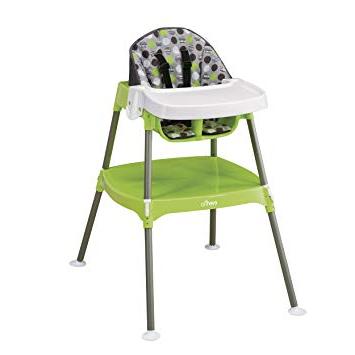 High Chair O2d5 evenflo Convertible High Chair Dottie Lime Childrens