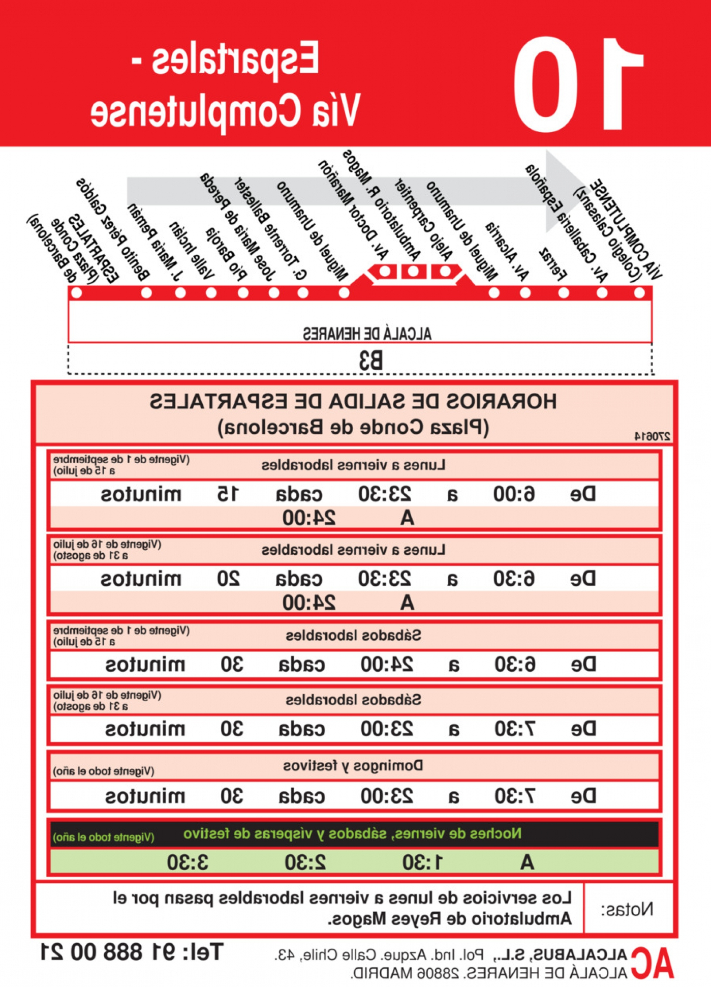 Horario Autobuses Alcala De Henares 8ydm Horarios De Autobús L 10 De Alcalà De Henares