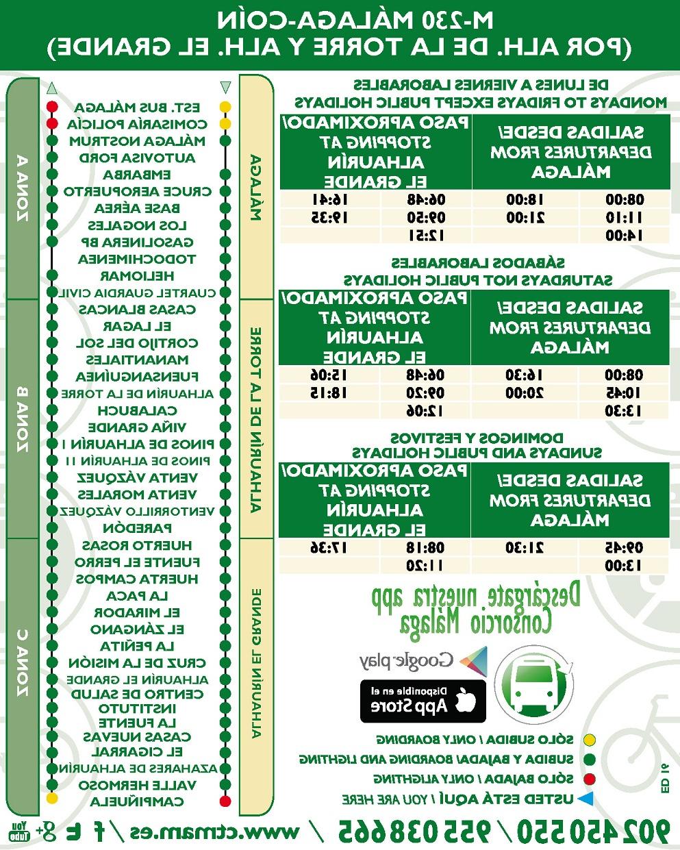 Horario Autobuses Malaga Q0d4 Consorcio De Transporte Del à Rea De Mà Laga Cambios Horarios En La
