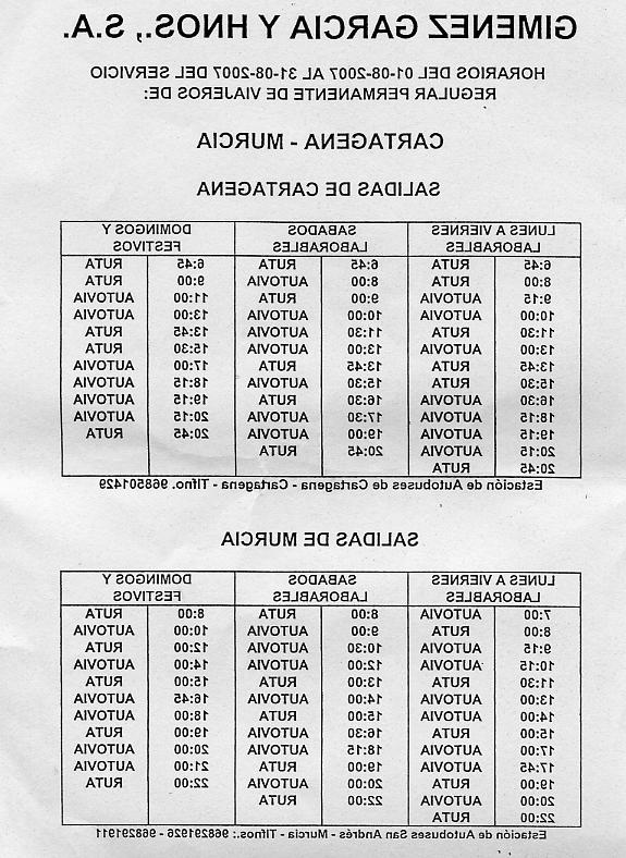 Horario Autobuses Murcia Cartagena 4pde Desmitificador Horarios Del Autobús Cartagena Murcia Para Agosto De