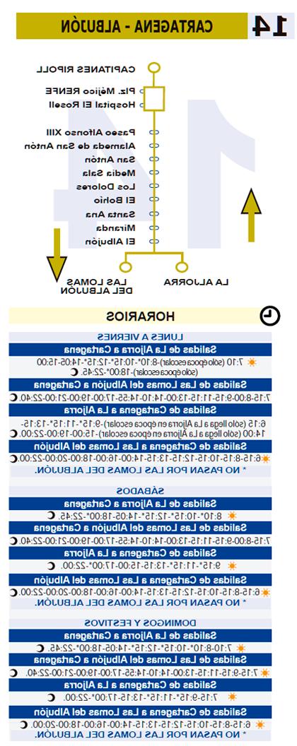 Horario Autobuses Murcia Cartagena 9fdy Là Nea 14 Cartagena Albujà N Transportes Públicos Ayuntamiento