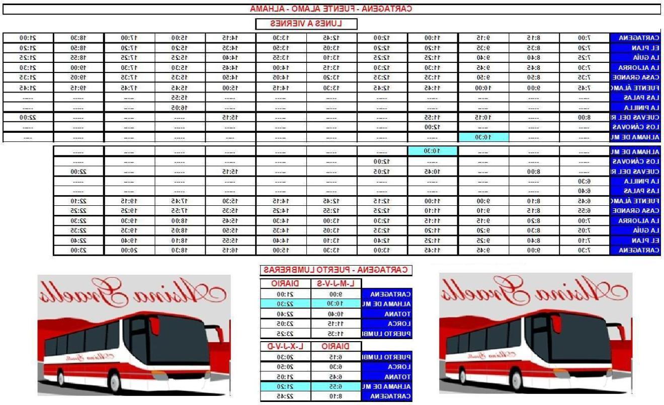 Horario Autobuses Murcia Cartagena Q0d4 asociacion De Vecinos Y Propietarios De Condado De Alhama Avpca