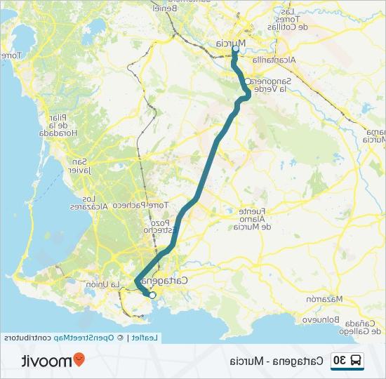 Horario Autobuses Murcia Cartagena Y7du LÃ Nea 30 Horarios Mapas Y Paradas