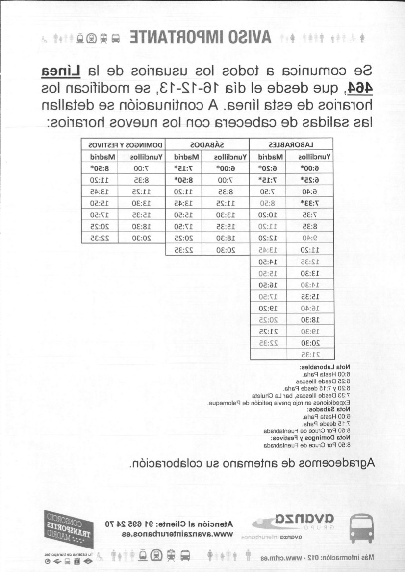Horario Madrid Dwdk Web Oficial Del Ayuntamiento De Recas Aviso Importante