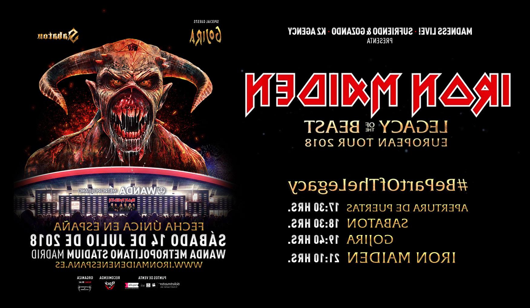 Horario Madrid Mndw Iron Maiden Anuncian Los Horarios Para Su Concierto De Madrid 14