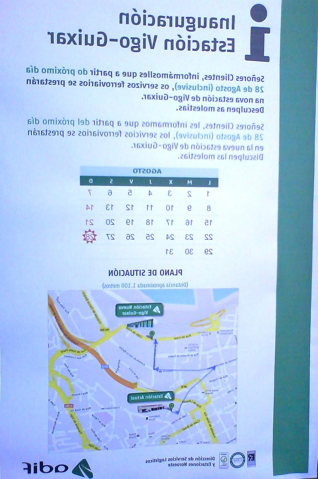 Horario Trenes Vigo Coruña X8d1 Usuarios Renfe Galicia 2011