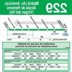 Horario Zona Azul Madrid Q0d4 Horarios De Autobús 229 Madrid Avenida Amà Rica Alcalà De