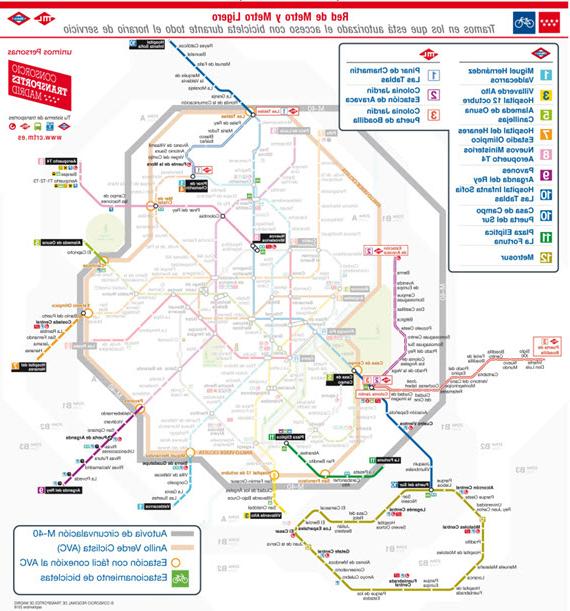 Horarios De Metro Madrid Gdd0 Nuevo Horario De Acceso De Bicis Al Metro A Partir Del 21 De
