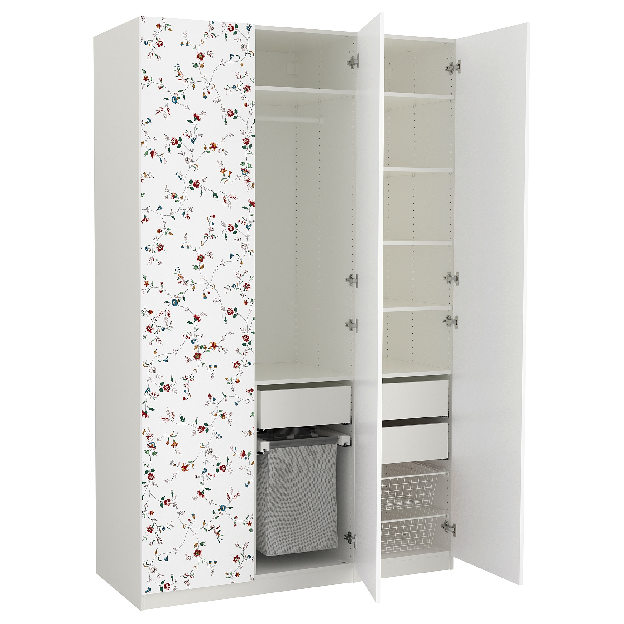 Ikea Armarios A Medida Dddy Pax Armario Blanco Marnardal Dibujo Con Flores 150 X 60 X 236 Cm Ikea