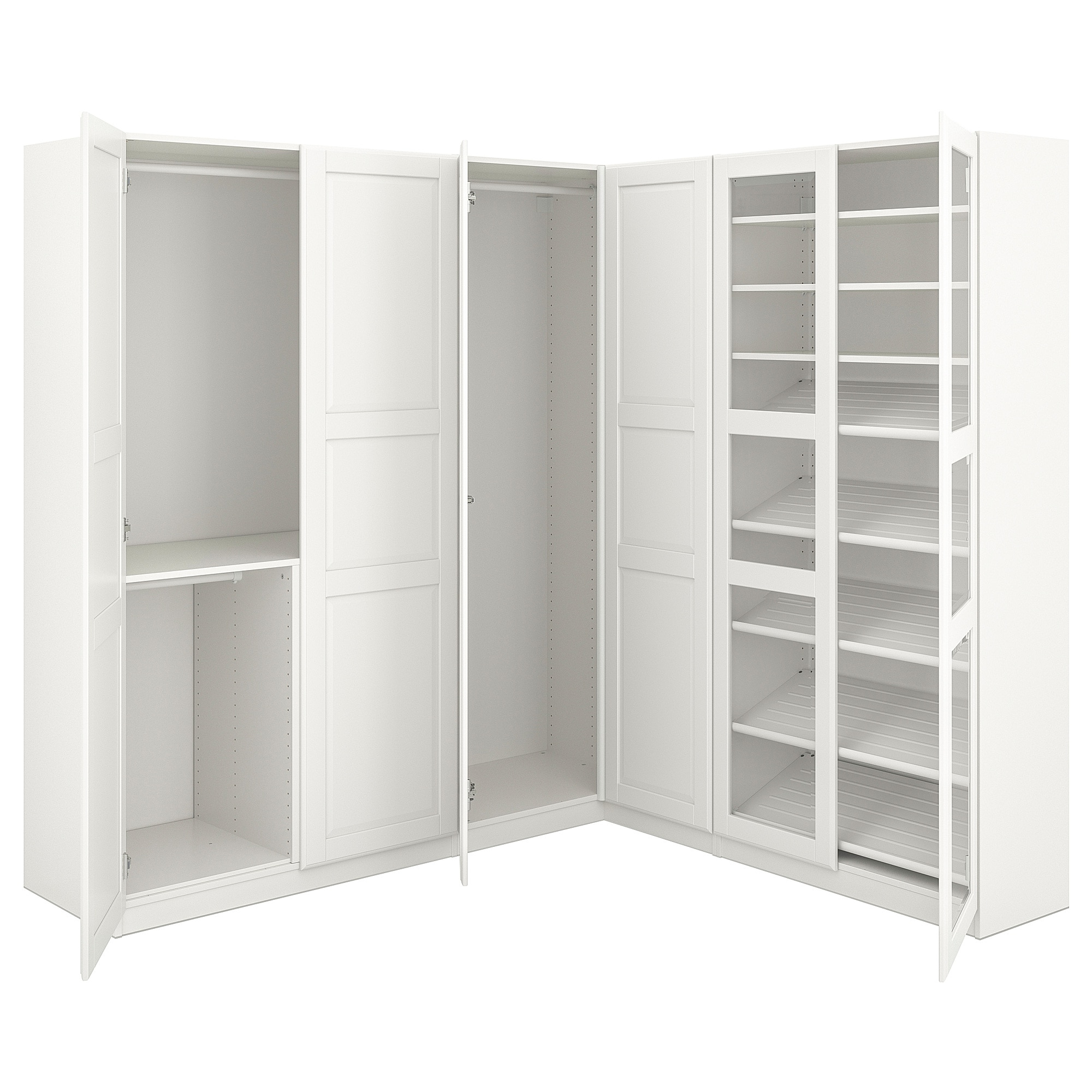 Ikea Armarios Esquineros 9ddf Pax Armario Esquina Blanco Tyssedal Tyssedal Vidrio 210 188 X 201 Cm