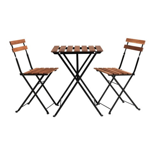Ikea Mesa Exterior 9fdy Tà Rnà Mesa 2 Cadeiras Exterior Tà Rnà Preto Velatura Cast Acinzent