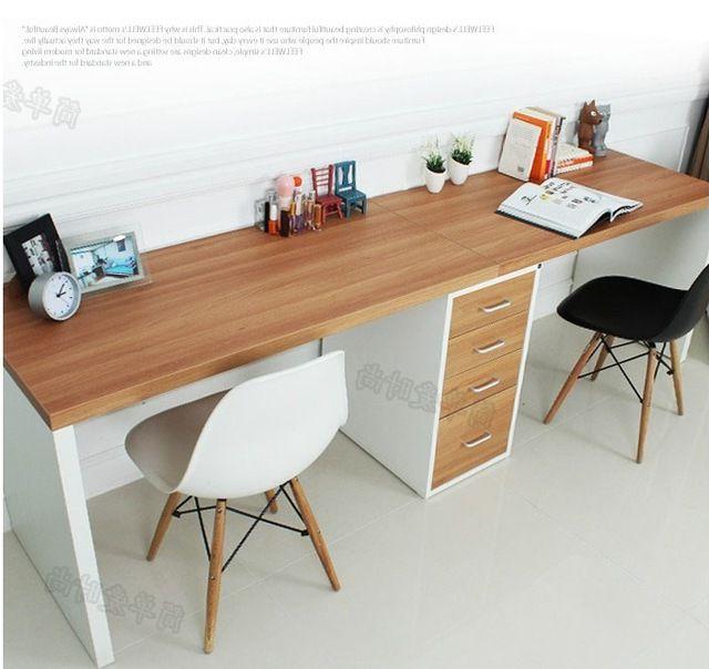 Ikea Mesas De Escritorio Ffdn Doble Larga Mesa Escritorio De La Putadora De Escritorio En Casa