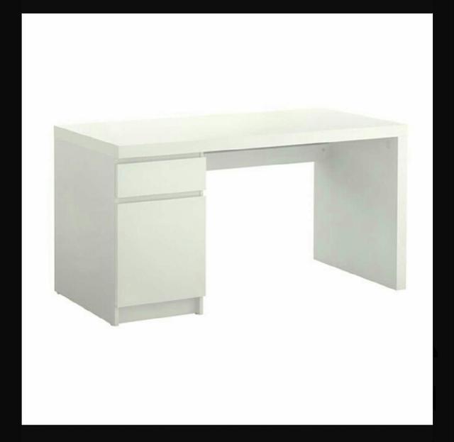 Ikea Mesas De Escritorio Qwdq Mesa Escritorio Blanca Mesa Estudio No Ikea De Segunda Mano Por 30