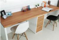 Ikea Mesas Escritorio Tqd3 Doble Larga Mesa Escritorio De La Putadora De Escritorio En Casa