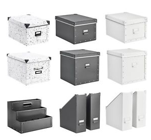 Ikea organizador Escritorio Budm Storage Boxes with Lid Desk organizer Magazine Files Multi Use