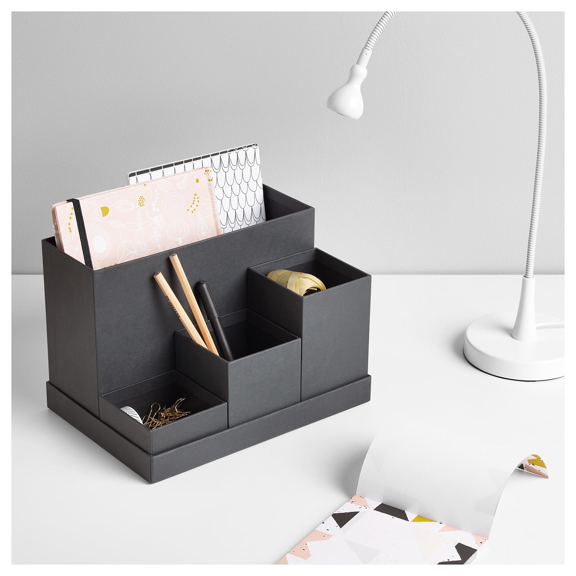 Ikea organizador Escritorio Gdd0 Tjena organizador Escritorio Negro 18 X 17 Cm Ikea