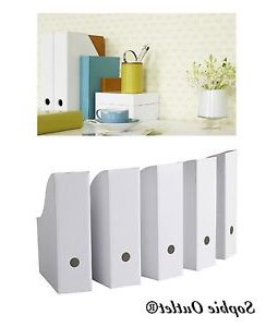 Ikea organizador Escritorio Q0d4 Ikea White Magazine Fluns File Holder organizer Paper Book Storage