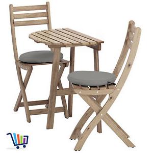 Ikea Sillas Jardin O2d5 Ikea Mesa De Jardà N Pared 2 Sillas Plegables 2 Cojà N Muebles