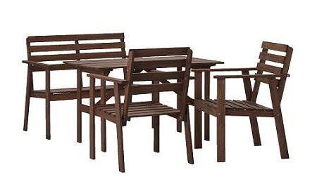 Ikea Sillas Jardin Txdf Conjunto De Mesa Sillas Y Banco Super Barato De 4 Ensales