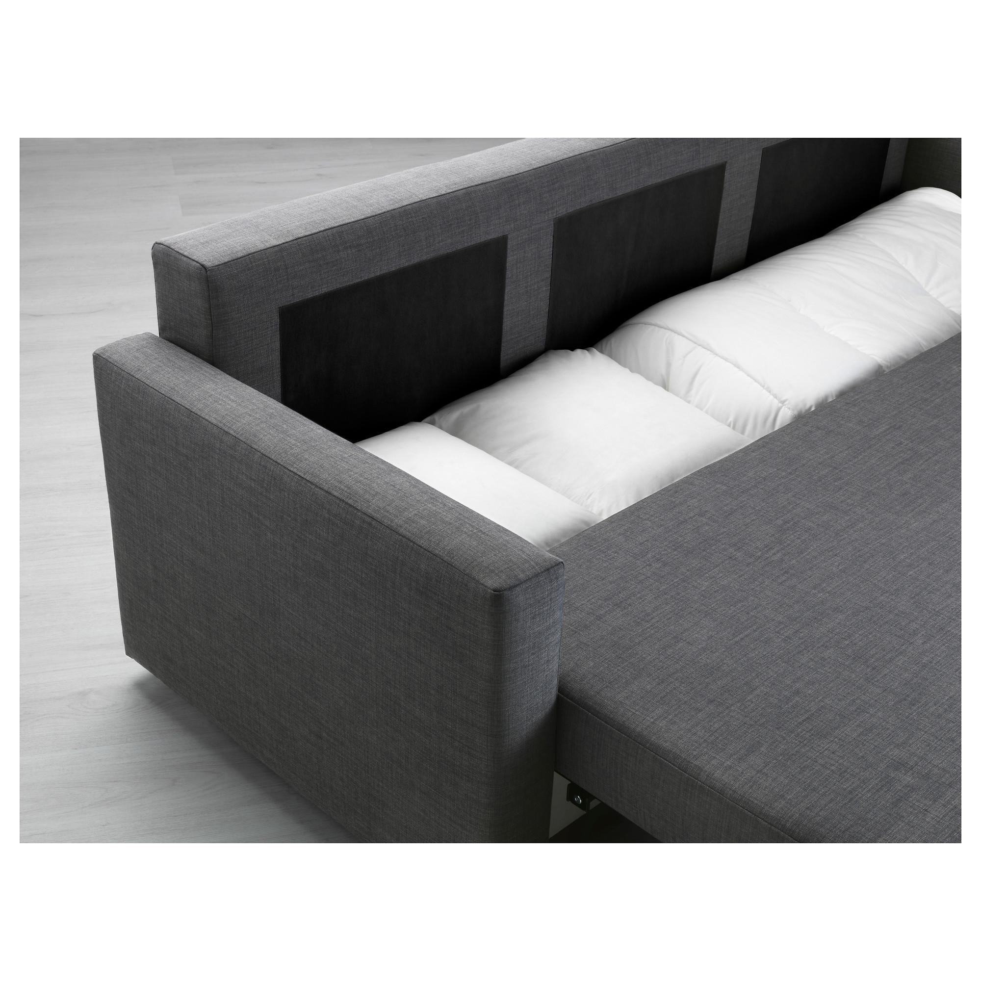 Ikea sofa Friheten Irdz Friheten Three Seat sofa Bed Skiftebo Dark Grey Ikea