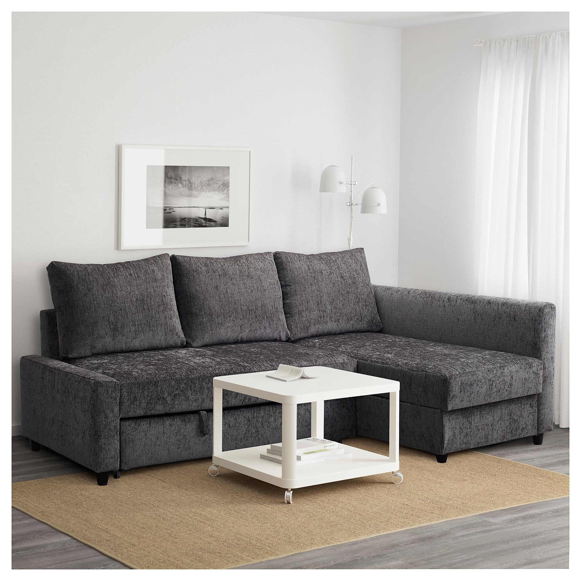 Ikea sofa Friheten S5d8 Friheten Corner sofa Bed with Storage Dark Grey Ikea