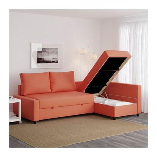 Ikea sofa Friheten U3dh Friheten Sleeper Sectional 3 Seat Skiftebo Dark orange Ikea