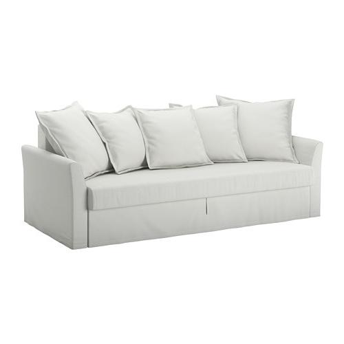Ikea sofas Camas 4pde Holmsund sofà Cama De 3 Lugares orrsta Branco Acinzentado Claro
