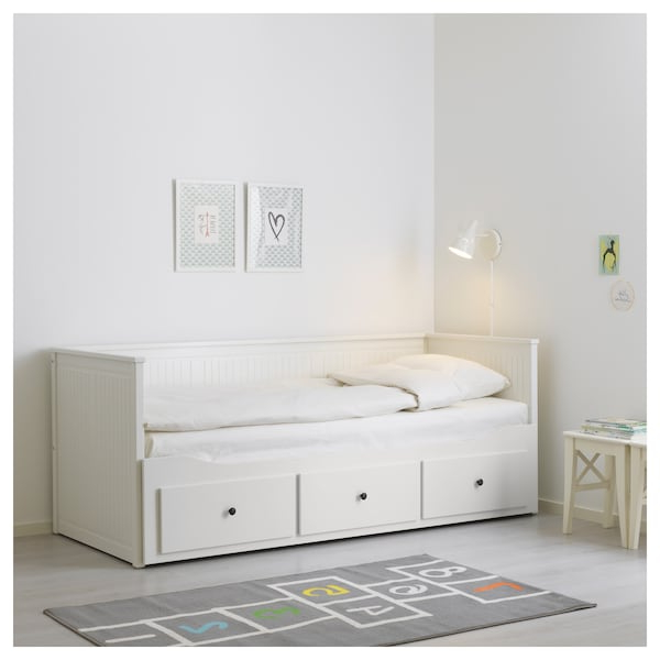 Ikea sofas Camas D0dg Daybed Frame with 3 Drawers Hemnes White