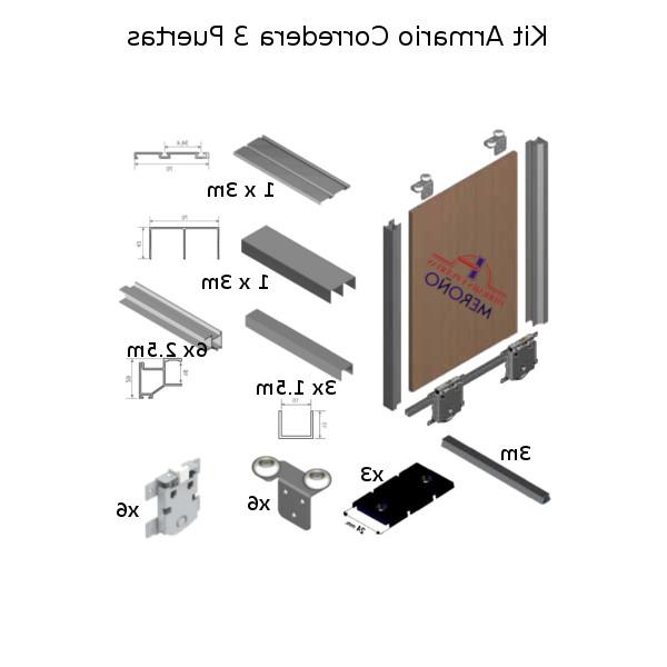 Kit Perfiles Puertas Correderas Armarios 3ldq Kit De Perfilerà A De Armario 2 à 3 Puertas