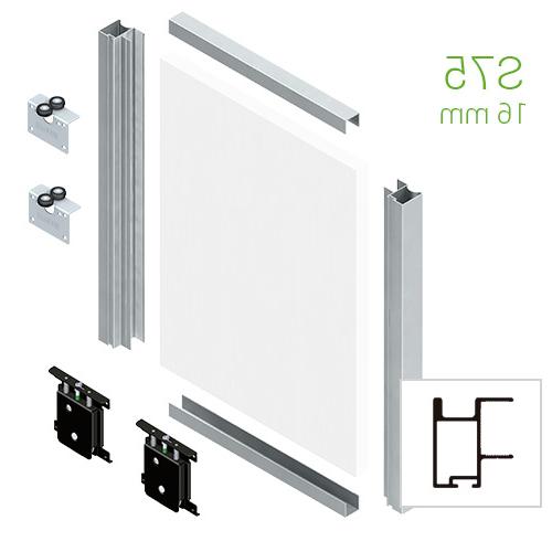 Kit Perfiles Puertas Correderas Armarios Txdf Kit Puerta Corredera Terra Tr16min 16mm