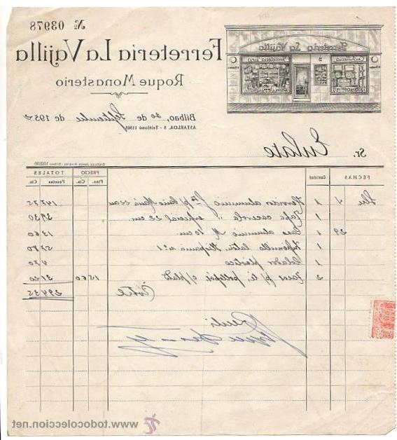 La Vajilla Bilbao Ffdn Factura Ercial Ferreteria La Vajilla Bilbao Prar Cartas