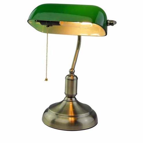 Lampara De Mesa Vintage Rldj LÃ Mpara De Mesa Vintage Banker Verde