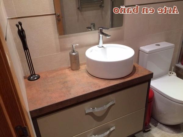 Lavabos sobre Mueble H9d9 Foto Mueble De Baà O Lacado Con Lavabo sobre Encimera De Arte En