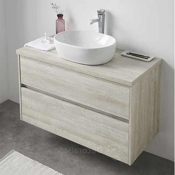 Lavabos sobre Mueble Xtd6 Conjunto Mueble De Baà O Con Lavabo sobre Encimera Y Espejo Deco Line